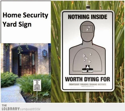 How Can Home Security Signs Deter Burglars?