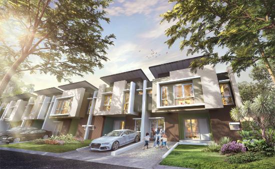 tampak depan rumah minimalis ukuran 8x12 meter 3 kamar tidur 2 lantai