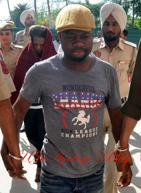 Photo: Nigerian Man And His Ugandan Girlfriend Arrested With 1kg Of Heroin In India
