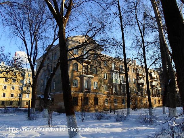 солнце, снег и дом