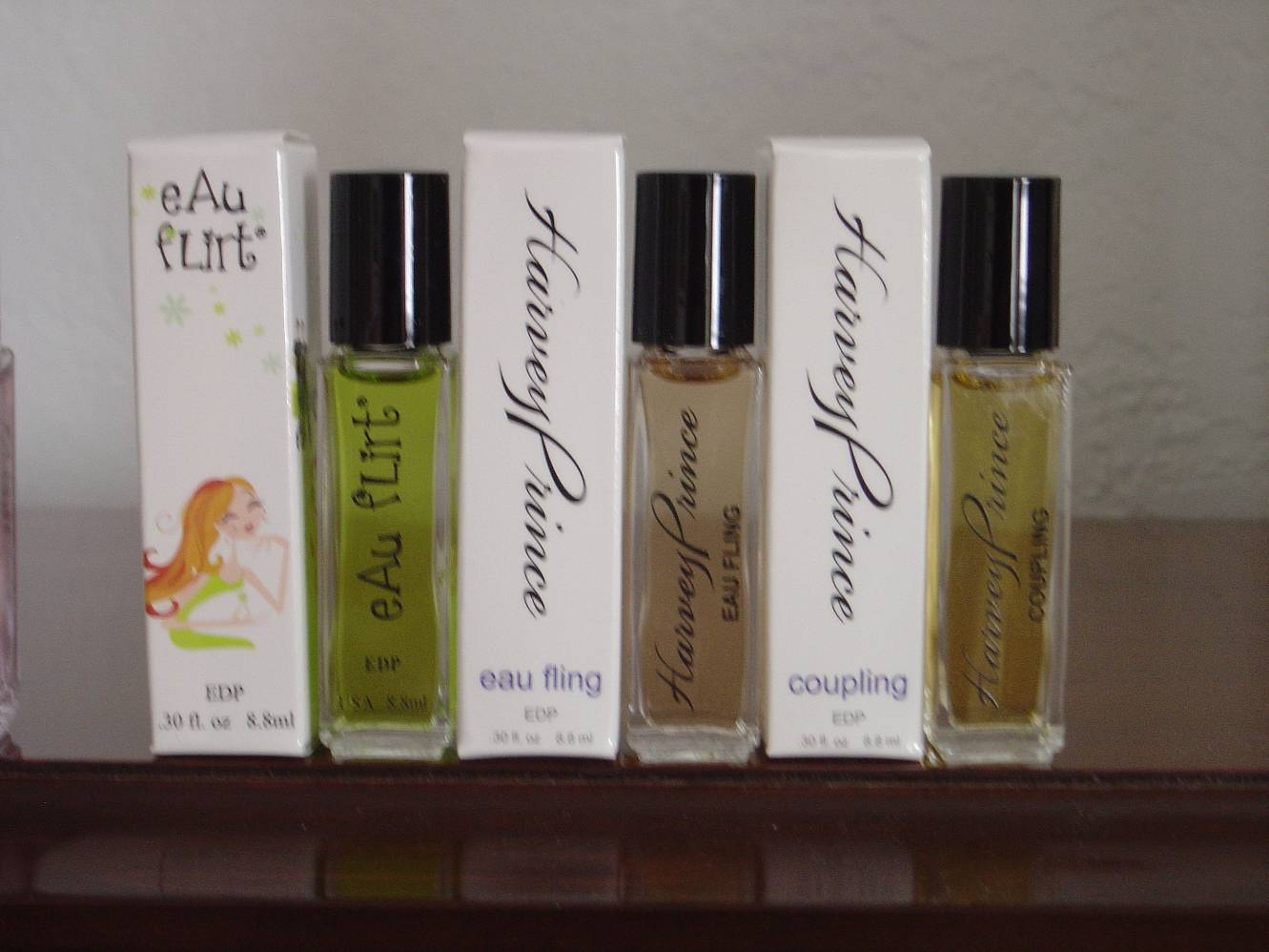 Harvey Prince Natural Perfumes trio of mini perfumes
