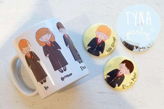 Taza e imán de Harry Potter y sus amigos