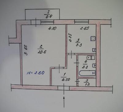 Продажа 1-комнатной улучшенной планировки