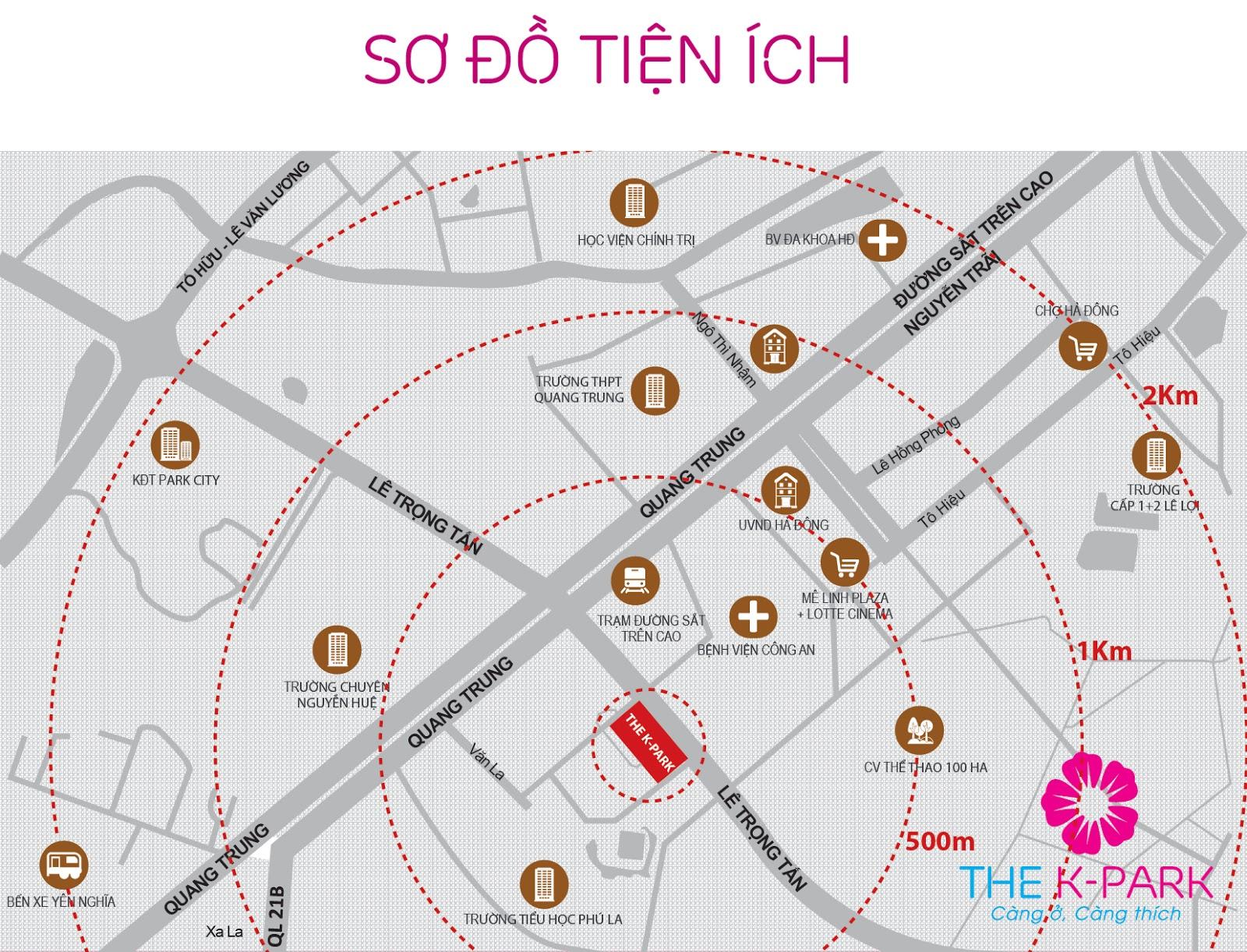 Tiện ích ngoại khu đồng bộ của dự án The K Park Văn Phú