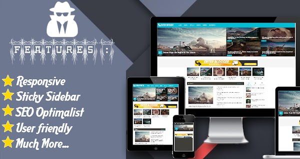Onanymous Material Design Responsive Blogger Template