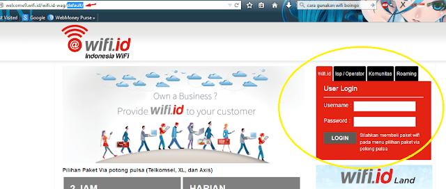 Cara Daftar Wifi ID Dengan Pulsa Semua Operator