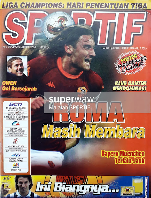 FRANCESCO TOTTI OF AS ROMA ON MAGAZINE COVER
