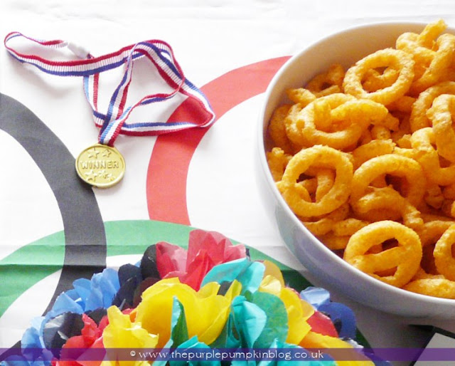 Olympic Onions Rings for an #Olympics Party at The Purple Pumpkin Blog