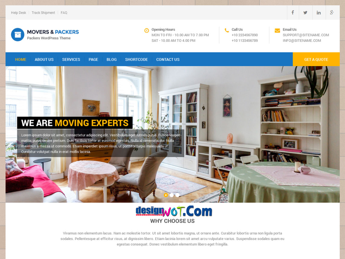 MOVERS PACKERS Responsive WordPress Theme