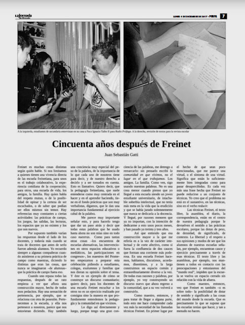 Centro Freinet Prometeo, 45 aniversario.