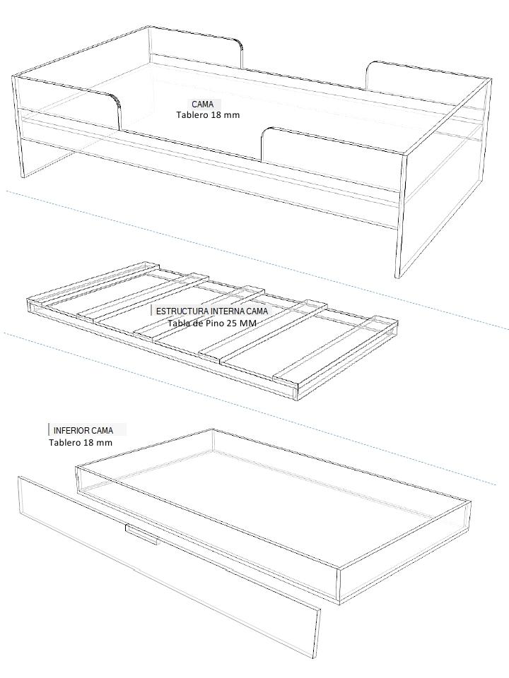 Dise o de muebles madera planos para fabricar juego de for Planos de muebles de madera pdf