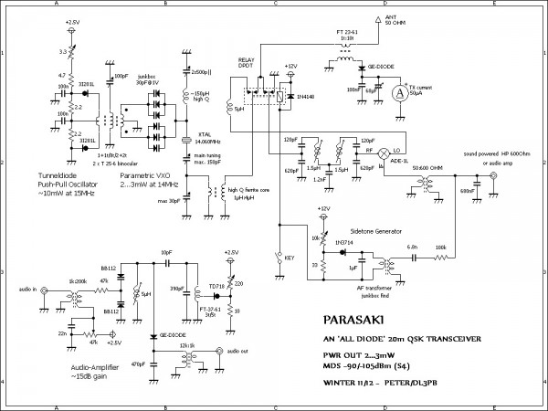 simple qrp transceiver circuit diagrams simple motor control wiring diagrams para-saki the qrp transceiver fact diodes circuit diagram ...