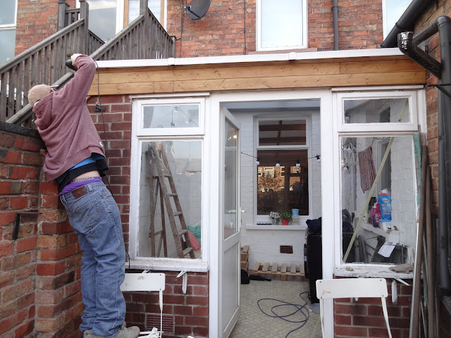 cladding the conservatory