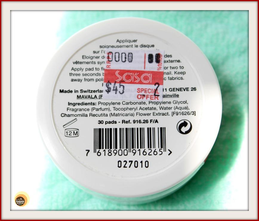 Natural Beauty And Makeup Mavala Acetone Free Nail Polish Remover Pads Review