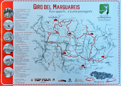 Giro del Marguareis map.