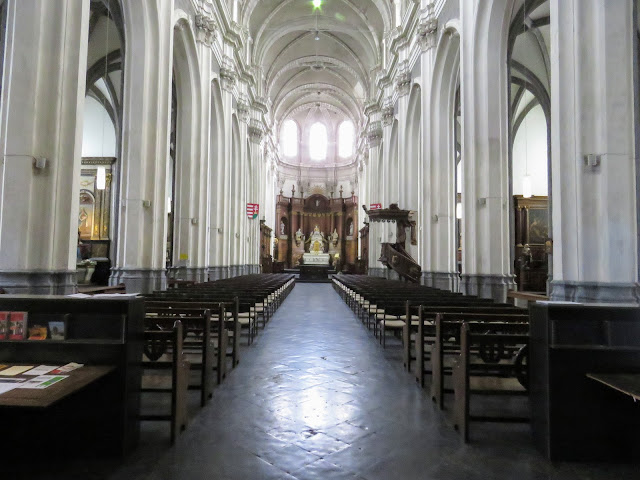 What to do in Mons Belgium in One Day: Inside Sainte-Elizabeth church