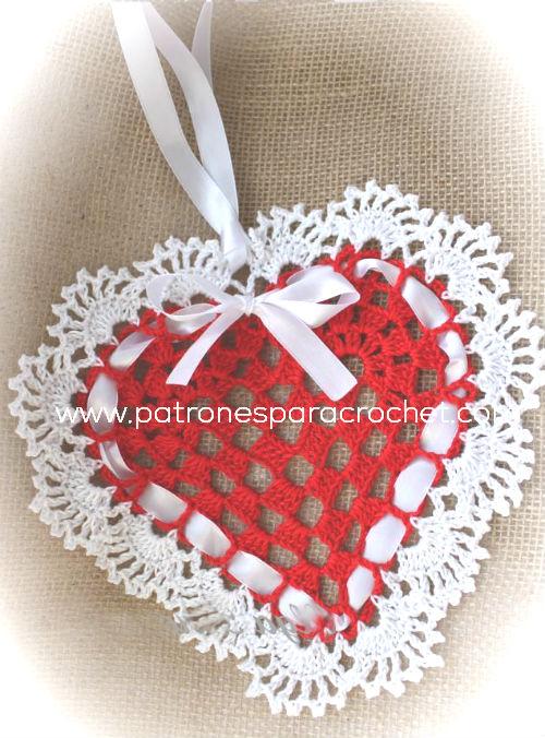 Corazón crochet para decoración / paso a paso | Patrones para Crochet