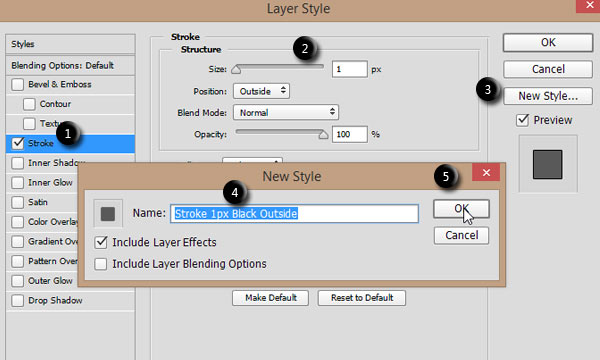 Save Layer Style from the Layer Style dialog in Photoshop