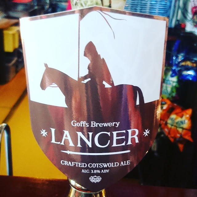 Gloucestershire Craft Beer Review: Lancer from Goffs real ale pump clip