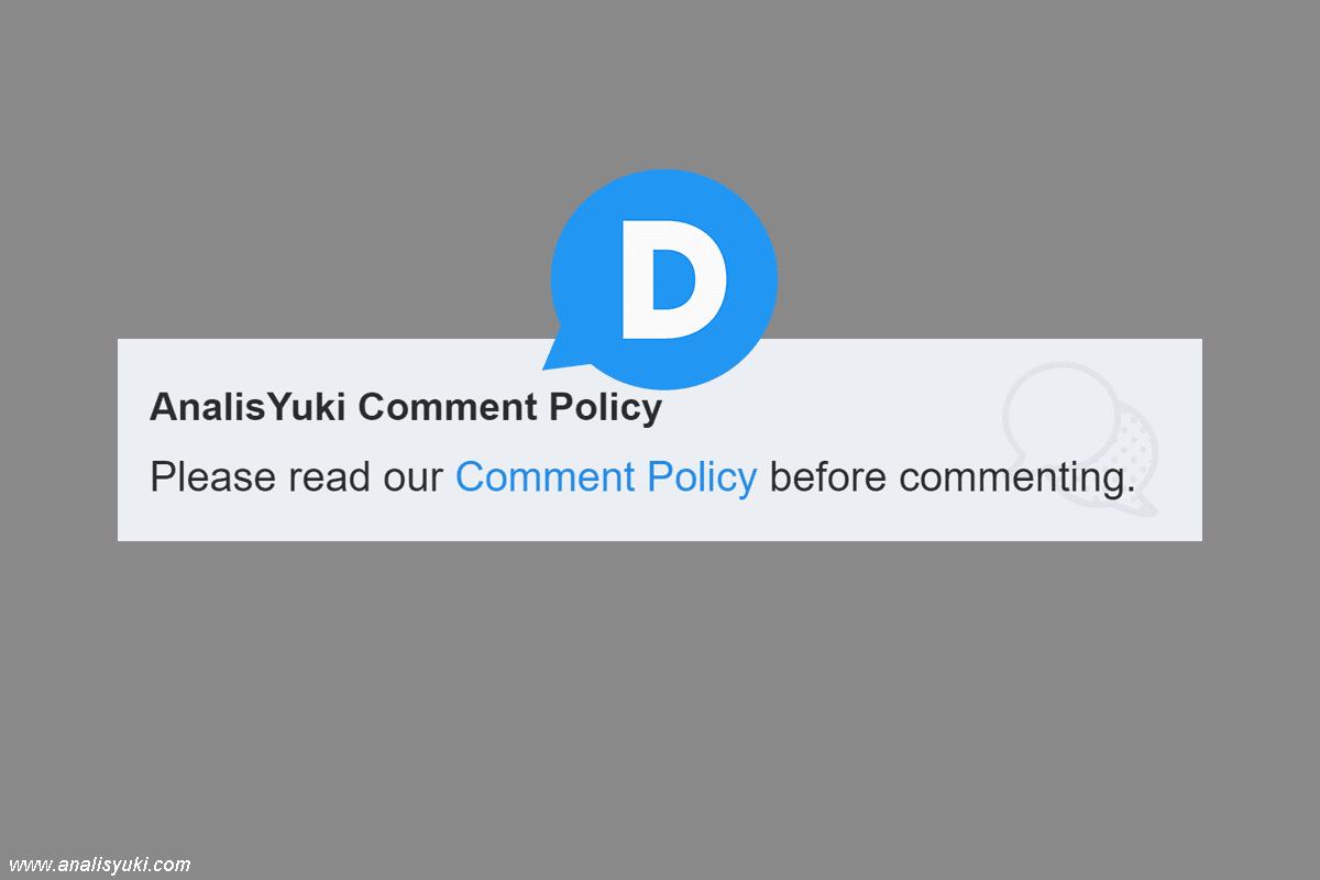 Cara Membuat Comment Policy pada Komentar DIsqus Blogger