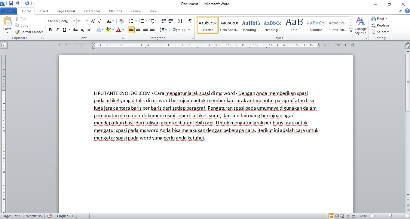 Cara Mengatur Jarak Spasi di Microsoft Word [MUDAH ...
