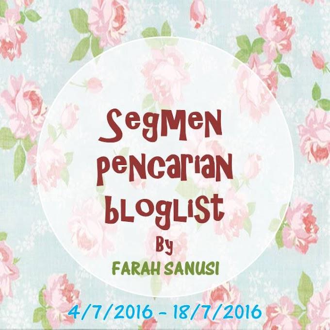 Pencarian bloglist by FARAH SANUSI