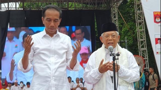 Survei Terbaru, Jokowi-Maruf Keok 7,15 Persen