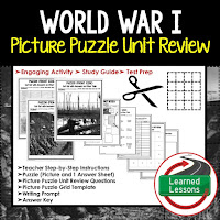 American History Picture Puzzles are great for TEST PREP, UNIT REVIEWS, TEST REVIEWS, and STUDY GUIDES, World War I