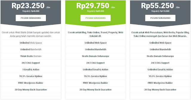 Hosting Unlimited Murah Gratis Domain