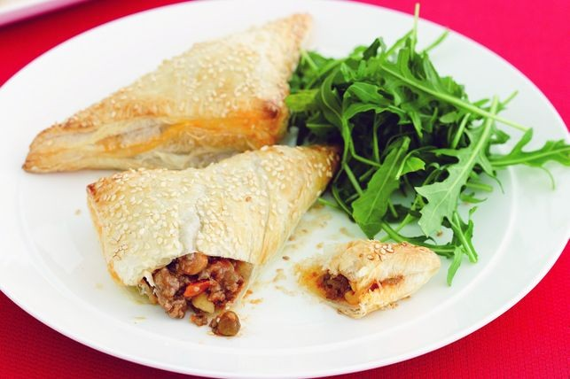Beef And Vegetable Triangles Recipe