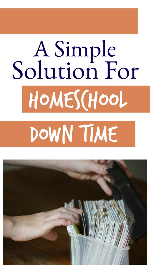 A Simple Solution for Homeschool Down Time #homeschool