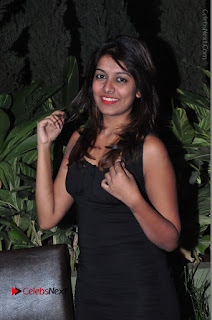 Actress Kavya Kumar Stills in Black Short Dress at F Club pre soft Launch  0007.JPG