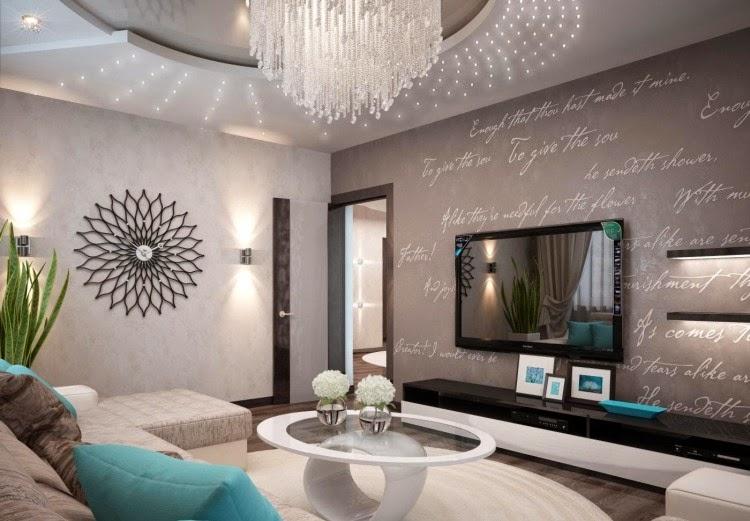 construindo minha casa clean salas modernas com papel de parede veja dicas e modelos. Black Bedroom Furniture Sets. Home Design Ideas