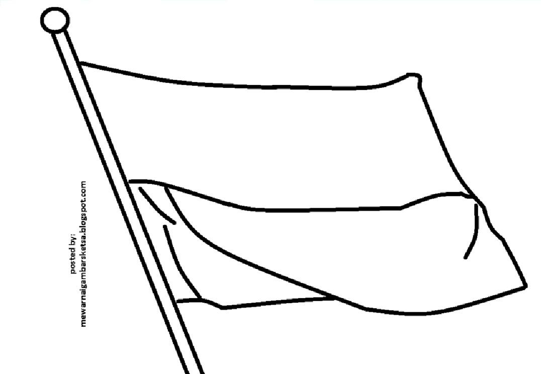 Kumpulan Sketsa Gambar Bendera Untuk Usia Tk