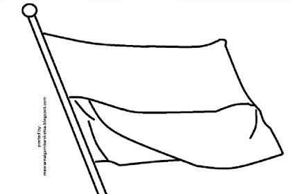 Gambar Bendera Merah Putih Untuk Mewarnai