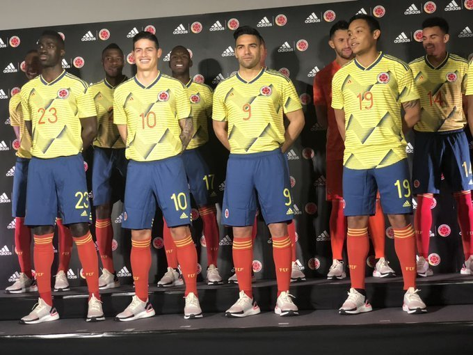 6a7c2814ec3 The Colombia 2019 Copa America kit has been revealed yesterday night,  confirming the previous leak. Colombia Home Shirt ...