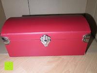 vorne: Adventskalender als piratige rustikale Schatztruhe - 24 einzelnen Schatzboxen - Ideal für den Advent