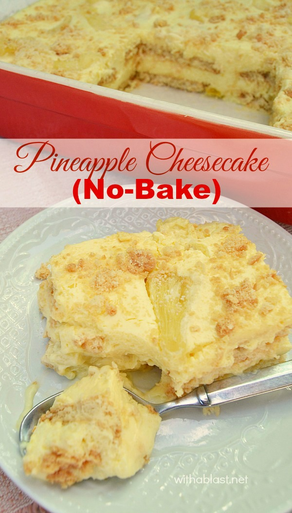 I have been making this No-Bake Pineapple Cheesecake for years and it is still one of our favorite desserts