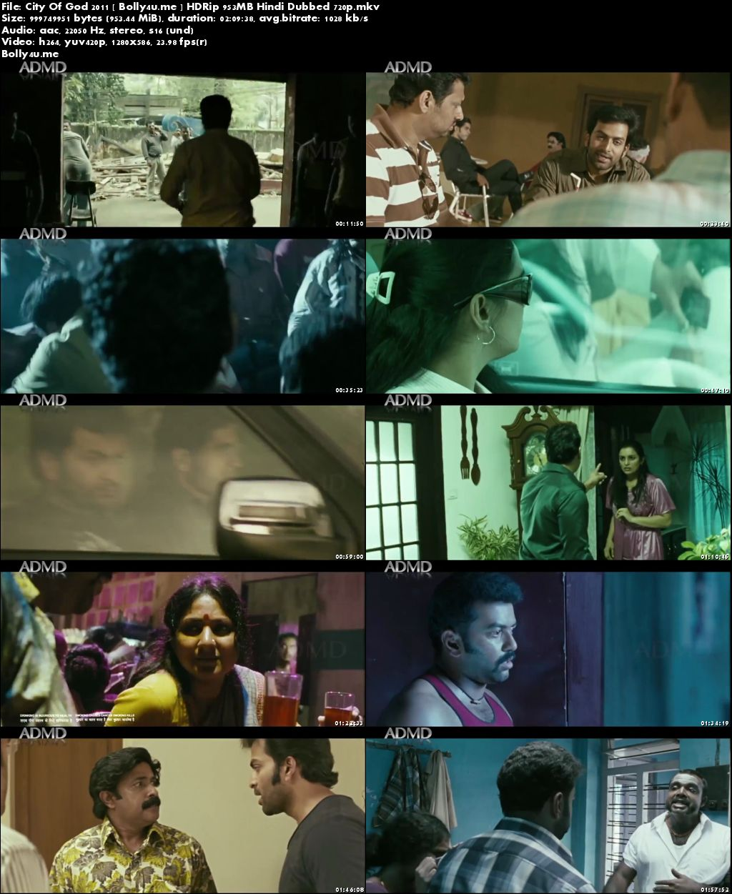 City Of God 2011 HDRip 350MB Hindi Dubbed 480p Download