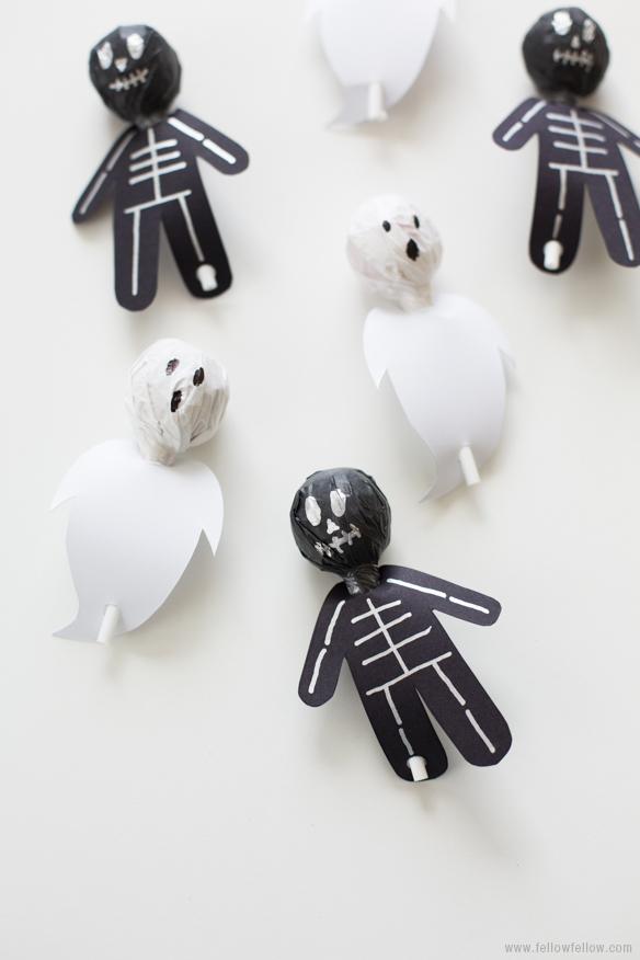 Piruletas para Halloween