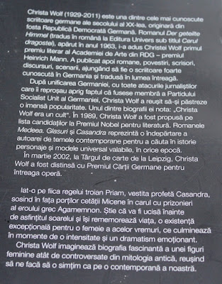 Casandra de Christa Wolf. Recenzie
