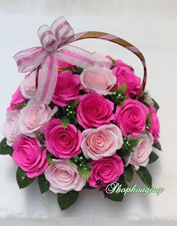 Lẵng hoa giấy cho 20-11