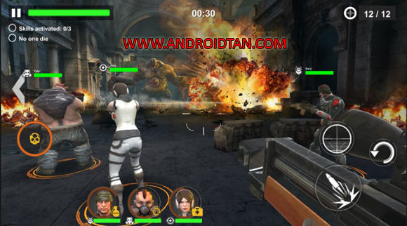Free Download DEAD WARFARE: Zombie Mod Apk + Data v1.2.13 (Unlimited Health/Ammo) Android Terbaru Latest Version 2017