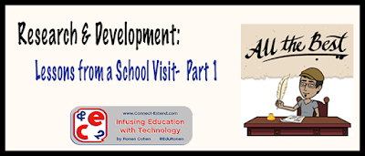 Research and Development: Lessons from a School Visit- Part 1