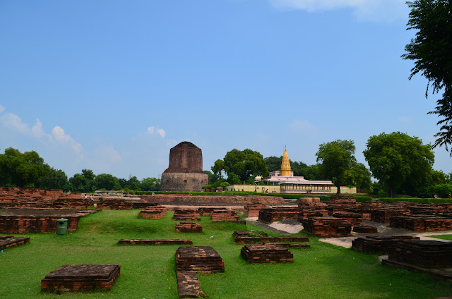 Dhamek Stupa near the excavated site, Sarnath