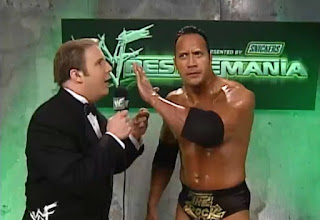 WWE / WWF Wrestlemania 2000 - The Rock shuts up Kevin Kelly