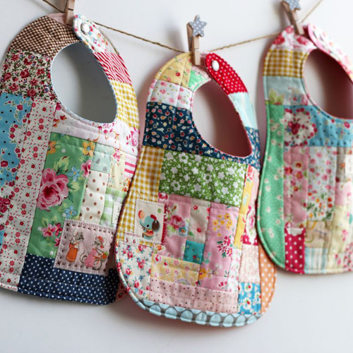This Patchwork Bib Will Wow New Moms