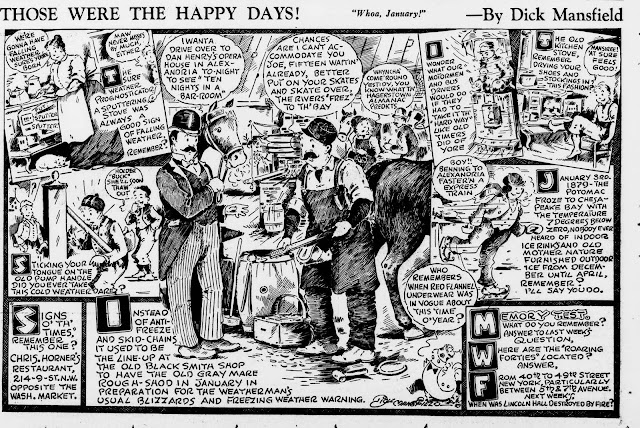 Those Were The Happy Days! sample from the Washington Star in 1940