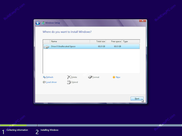 Cara Menginstal Windows 8 pada laptop / komputer