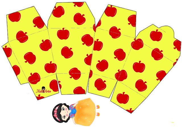 Snow White Free Printable Take Away Boxes.